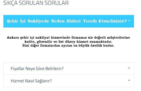 Ankara şehir içi nakliyat